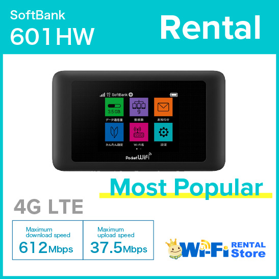 [6 Days RENTAL] SoftBank 601HW