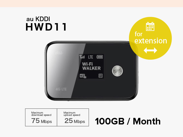 Extension [ 14 Days RENTAL ] au KDDI HWD11