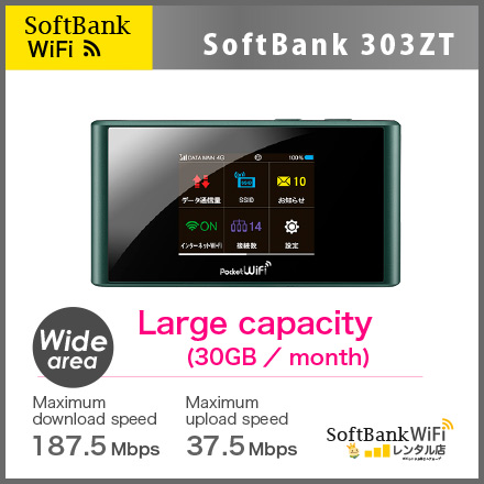 [3 Days RENTAL] SoftBank 303ZT
